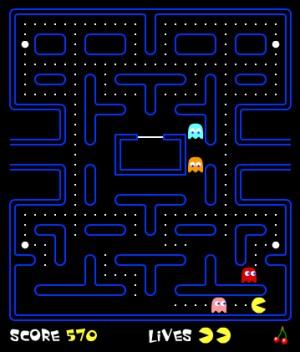 Capture d'écran du jeu Pacman
