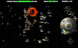 Capture d'écran du jeu Flashtrek : Assault