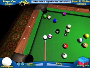 Capture d'écran du jeu 3d Pool