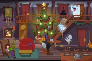 Capture d'écran du jeu Casper's Haunted Christmas