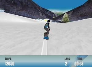 Capture d'écran du jeu Snowboarder Xs