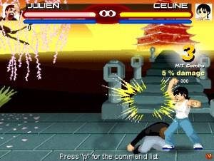 Capture d'écran du jeu Kungfu Fighting