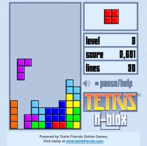 Capture d'écran du jeu Tetris N-blox