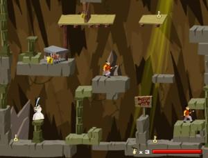 Capture d'écran du jeu Samurai Jack In Cavern Raid