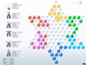 Capture d'écran du jeu Chinese Checkers