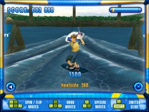 Capture d'écran du jeu Switch Wakeboarding