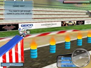 Capture d'écran du jeu Knievel's Wild Ride