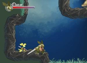 Capture d'écran du jeu Armadillo Knight : Wara Wood