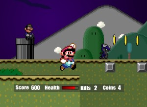Capture d'écran du jeu Super Mario Flash Halloween Version