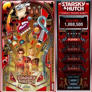 Capture d'écran du jeu Pinball Starsky & Hutch