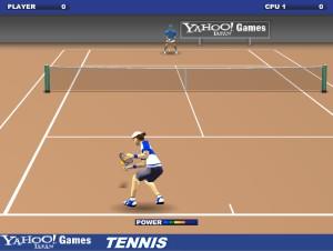 Capture d'écran du jeu Yahoo Tennis