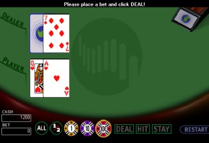 Capture d'écran du jeu Blackjack