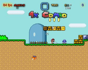 Capture d'écran du jeu Monolith's Super Mario World