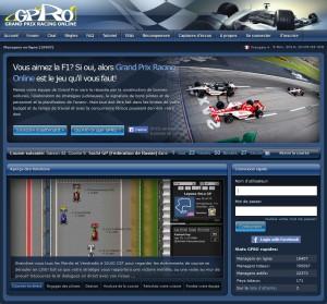 Capture d'écran du jeu Grand Prix Racing Online