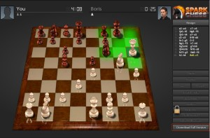 Capture d'écran du jeu Spark Chess