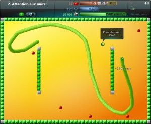 Capture d'écran du jeu Snaky 360