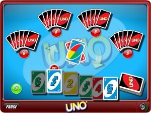 Capture d'écran du jeu Uno