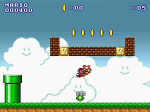 Capture d'écran du jeu Super Mario Flash