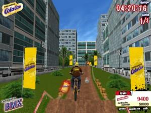 Capture d'écran du jeu Colacao Bmx