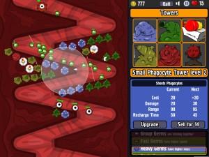 Capture d'écran du jeu Bowels Physics Tower Defense