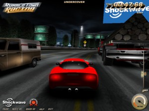 Capture d'écran du jeu Rumble Town Racing
