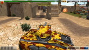 Capture d'écran du jeu Tanki Online