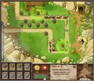 Capture d'écran du jeu Claytus Hood Tower Defense