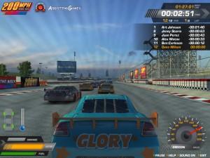 Capture d'écran du jeu 200 Mph : Thunder Road
