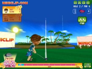 Capture d'écran du jeu Golf Ace Hawaii