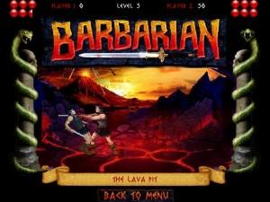 Capture d'écran du jeu Barbarian
