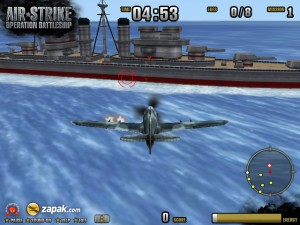 Capture d'écran du jeu Air Strike Operation Battleship