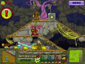 Capture d'écran du jeu Monster Tower Defense