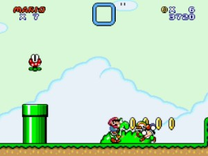 Capture d'écran du jeu Super Mario Flash 2
