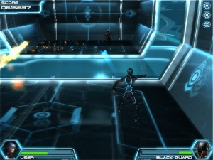 Capture d'écran du jeu Tron Legacy Disc Battle