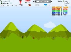 Capture d'écran du jeu Tanks