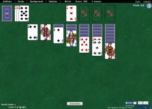 Capture d'écran du jeu World Of Solitaire