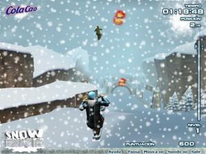 Capture d'écran du jeu Colacao Snowbike