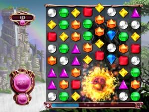 Capture d'écran du jeu Bejeweled