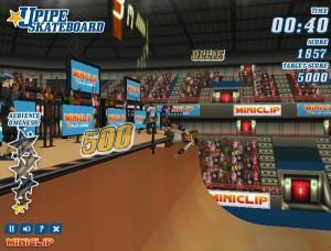Capture d'écran du jeu Upipe Skateboard