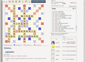 Capture d'écran du jeu Lettre Compte Triple