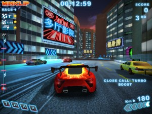 Capture d'écran du jeu Turbo Racing 3 Shanghai