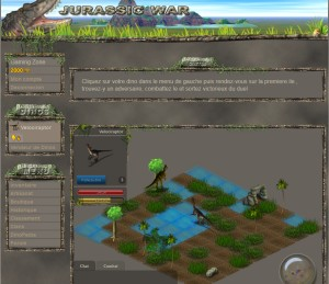 Capture d'écran du jeu Jurassic War