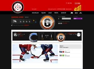 Capture d'écran du jeu Virtual League Of Hockey