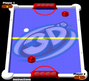Capture d'écran du jeu 3d Air Hockey