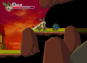 Capture d'écran du jeu Armadillo Knight : Kenora Village